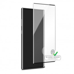 PURO Premium Full Edge Tempered Glass Case Friendly - Szkło ochronne hartowane na ekran Samsung Galaxy Note 10 (czarna ramka)