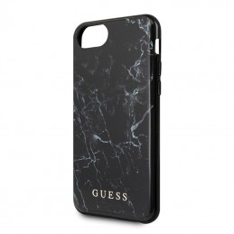 Guess Marble - Etui iPhone SE 2020 / 8 / 7 (Black)