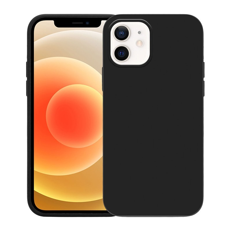 Crong Color Cover - Etui iPhone 12 / iPhone 12 Pro (czarny)