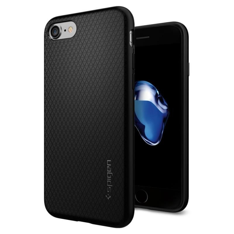 Spigen Liquid Air - Etui iPhone SE 2020 / 8 / 7 (czarny)