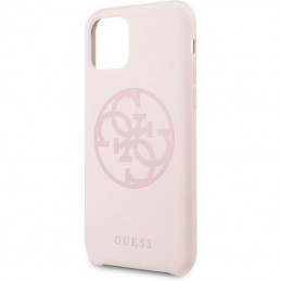 Guess Silicone 4G Tone to Tone - Etui iPhone 11 (Light Pink)