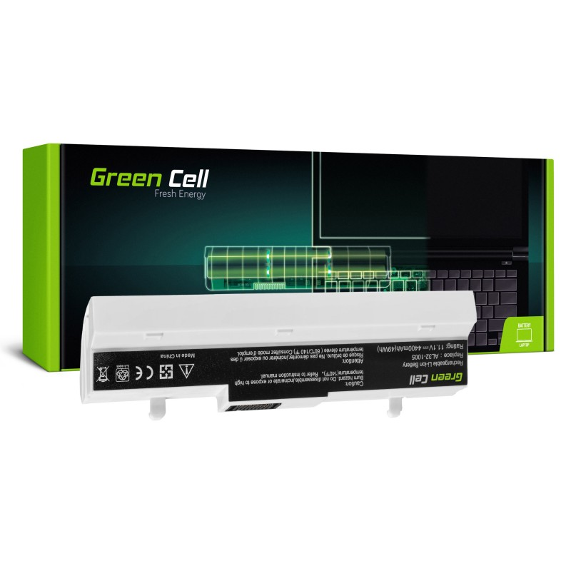 Green Cell Bateria do Asus Eee-PC 1001 1001P 1005 1005P 1005H (white) / 11,1V 4400mAh