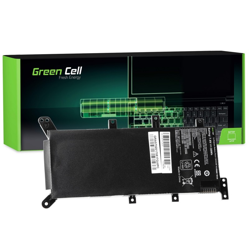 Green Cell Bateria do Asus R556 R556L A555L F555L K555L X555L X555 / 7,6V 4000mAh