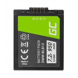 Bateria Green Cell ® DMW-BLB13 DMWBLB13 do Panasonic Lumix DMC-G1 7.2V 950mAh