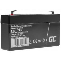Akumulator bezobsługowy AGM VRLA Green Cell 6V 1.2Ah do systemów alarmowych i zabawek
