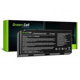 Green Cell Bateria do MSI GT60 GT70 GT660 GT680 GT683 GT780 GT783 GX660 GX680 GX780 / 11,1V 6600mAh