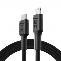 Kabel Przewód GC Power Stream USB-C - Lightning 100 cm ze wsparciem Power Delivery (Apple MFi Certified)