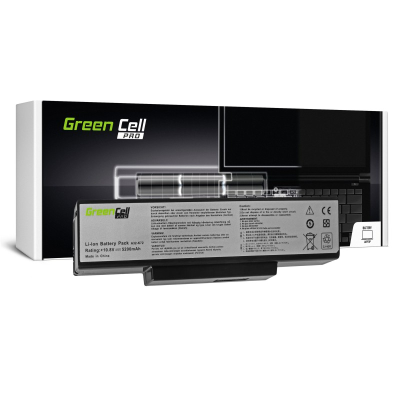 Green Cell PRO Bateria do Asus A32-K72 K72 K73 N71 N73 / 11,1V 5200mAh