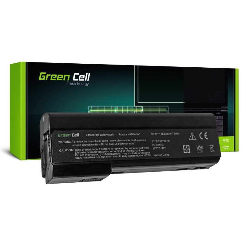 Green Cell Bateria do HP EliteBook 8460p ProBook 6360b 6460b / 11,1V 6600mAh