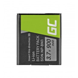 Bateria Green Cell ® NP-BN1 do Sony Cyber-Shot DSC-QX10 DSC-QX100 DSC-TF1 DSC-TX10 DSC-W530 DSC-W650 DSC-W800 3.7V 630mAh