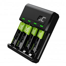 Zestaw ładowarka Green Cell GC VitalCharger i baterie 2xAA 2000mAh 2xAAA 800mAh