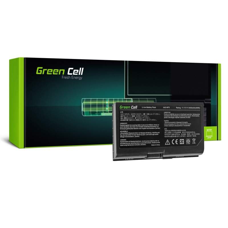Green Cell Bateria do Asus G71 G72 F70 M70 X71 / 11,1V 4400mAh