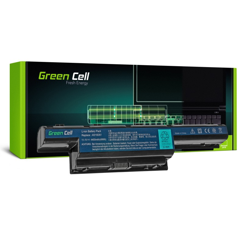 Green Cell Bateria do Acer Aspire 5740G 5741G 5742G 5749Z 5750G 5755G / 11,1V 4400mAh