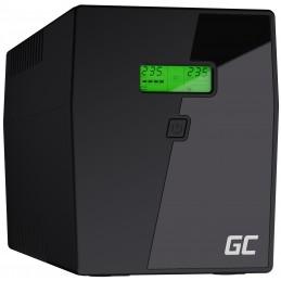Zasilacz awaryjny UPS Green Cell Microsine z wyświetlaczem LCD 2000VA