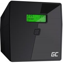 Zasilacz awaryjny UPS Green Cell Microsine z wyświetlaczem LCD 1000VA