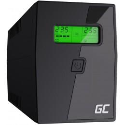 Zasilacz awaryjny UPS Green Cell Micropower z wyświetlaczem LCD 600VA