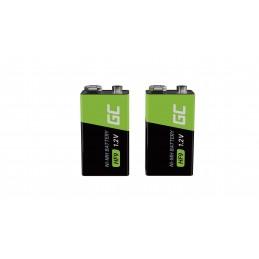 Baterie Akumulatorki 4x 9V HF9 Ni-MH 250mAh Green Cell