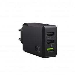 Ładowarka sieciowa GC ChargeSource3 3xUSB 30W z szybkim ładowaniem Ultra Charge i Smart Charge