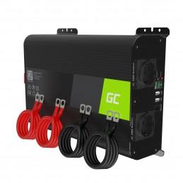 Przetwornica napięcia Inwerter Green Cell PRO 12V na 230V 2000W/4000W Czysta sinusoida