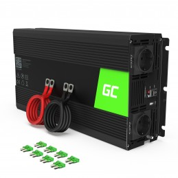 Przetwornica Green Cell® 12V na 230V Modyfikowana sinusoida 1500W