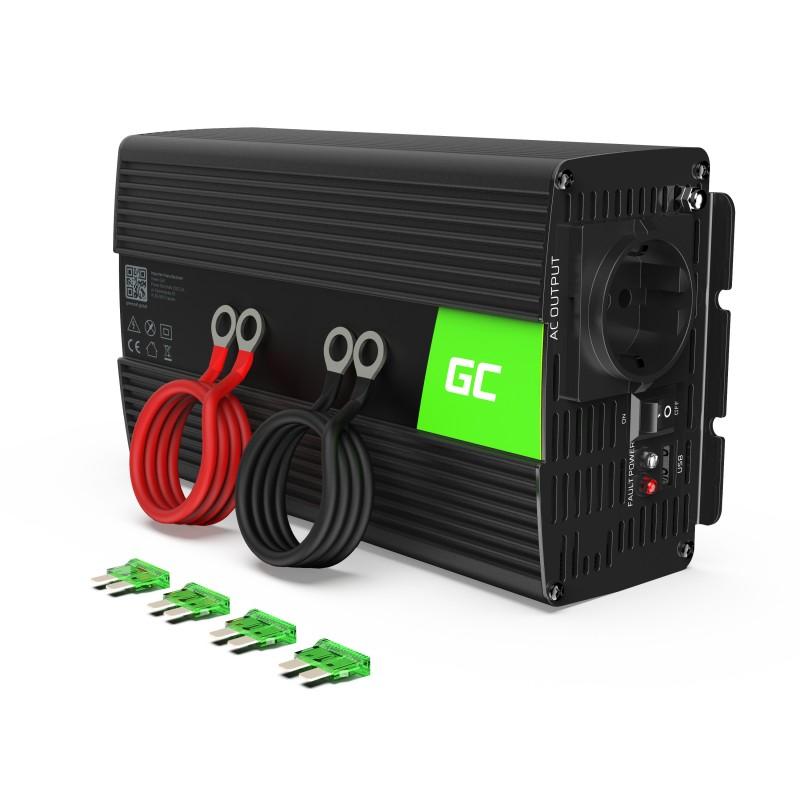 Samochodowa Przetwornica Napięcia Green Cell ® 12V do 230V, 1000W/2000W Czysta sinusoida
