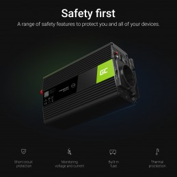 Przetwornica Green Cell® 12V na 230V Czysta sinusoida 300W