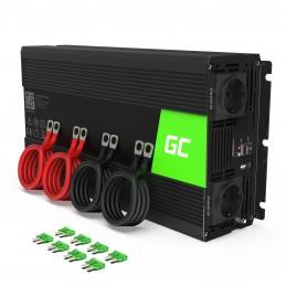 Samochodowa Przetwornica Napięcia Green Cell ® 12V do 230V, 2000W/4000W Czysta sinusoida