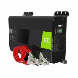 Przetwornica napięcia Inwerter Green Cell PRO 12V na 230V 300W/600W Czysta sinusoida