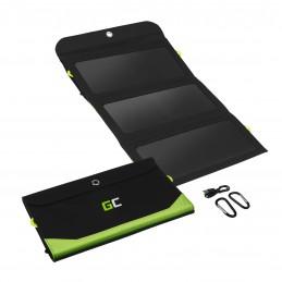 Ładowarka solarna Green Cell GC SolarCharge o mocy 21W z funkcją power banka 10000mAh USB-C 18W PD USB-A QC